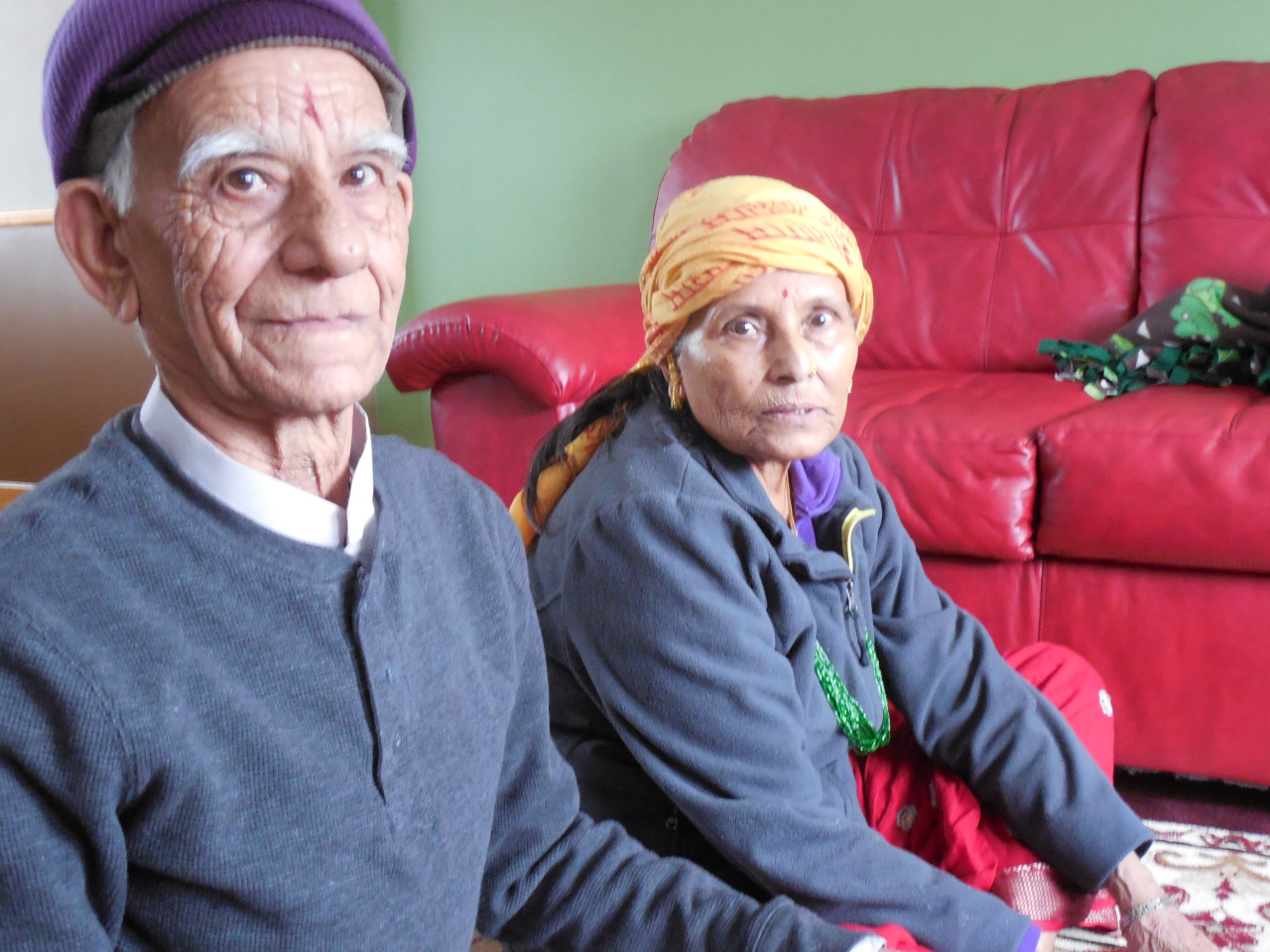 Ganga married Jashoda through an arranged marriage, which is custom in Bhutan. Ganga and Jashoda had five sons and two daughters while living on their ten-acre farm in Bhutan, before they were forced to leave the country. They have been married 63 years.