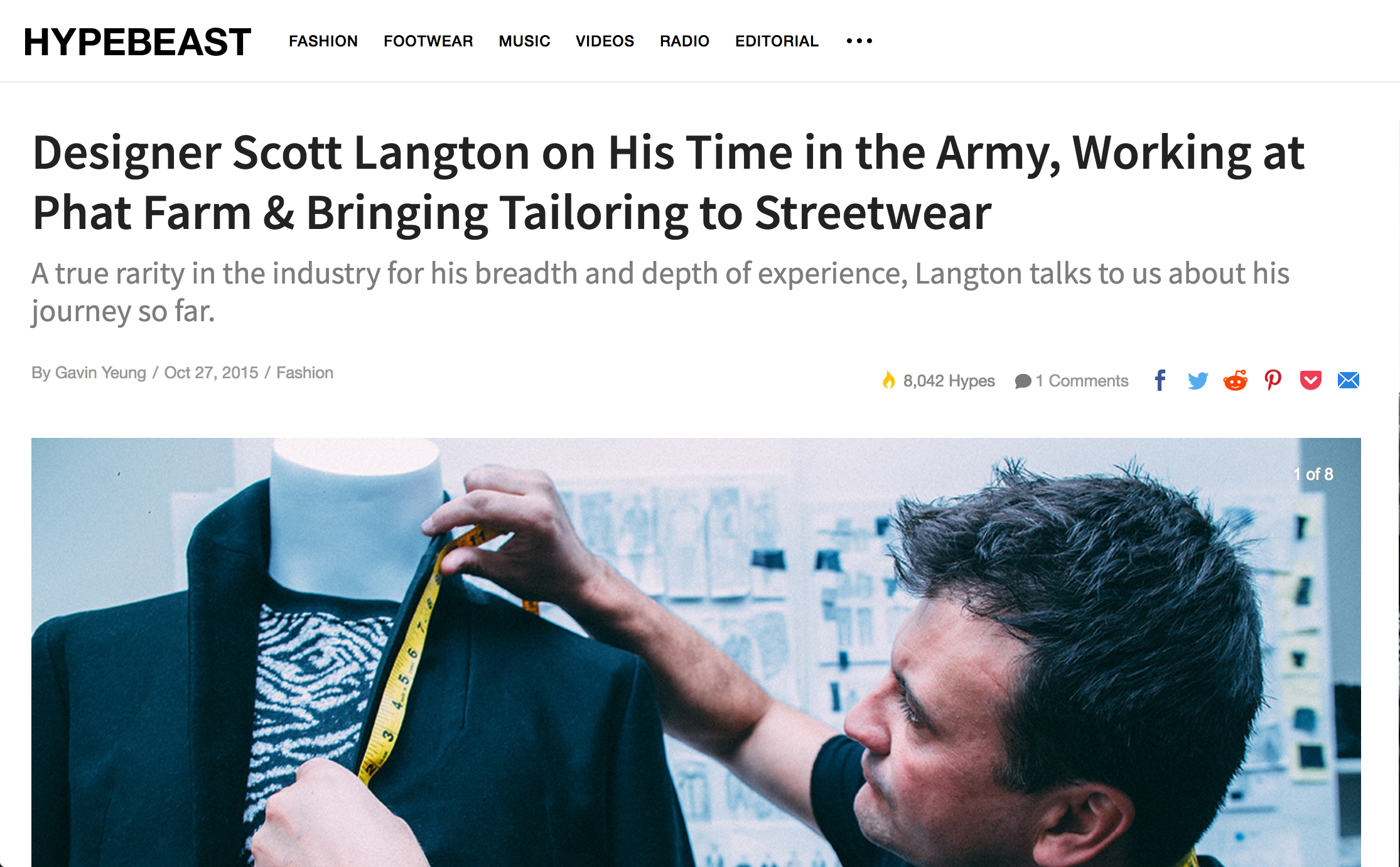 Hypebeast interview with Scott Langton