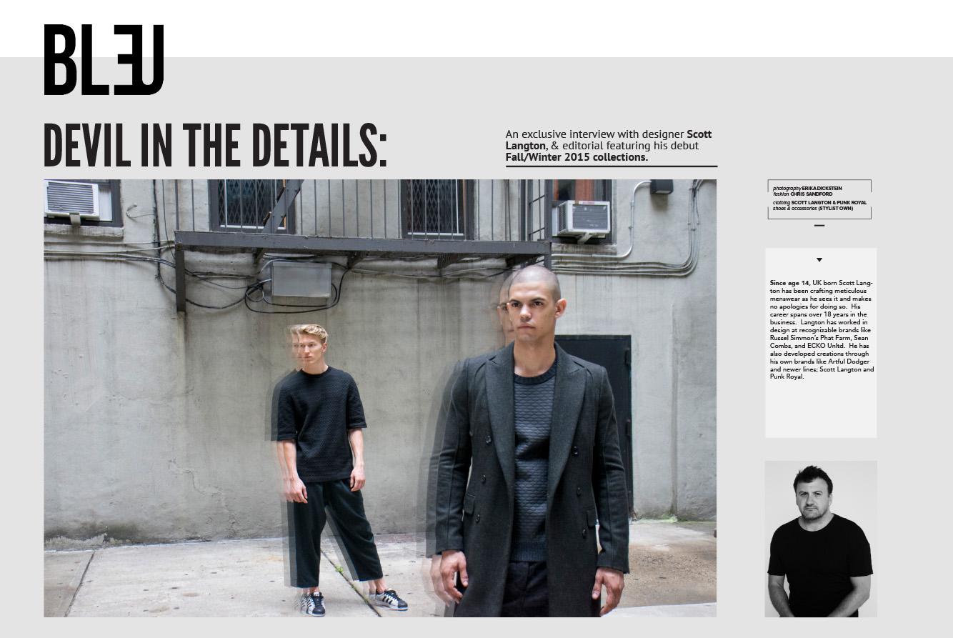 Bleu Magazine, November 2015