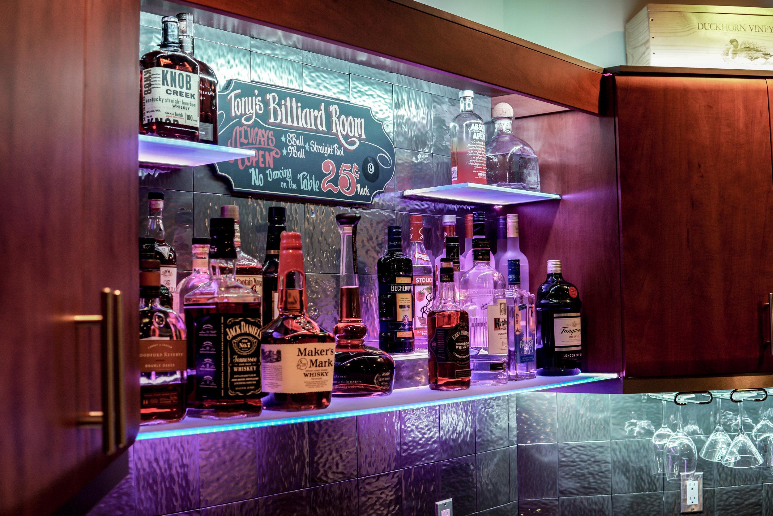 Custom Bar with LED Lighting