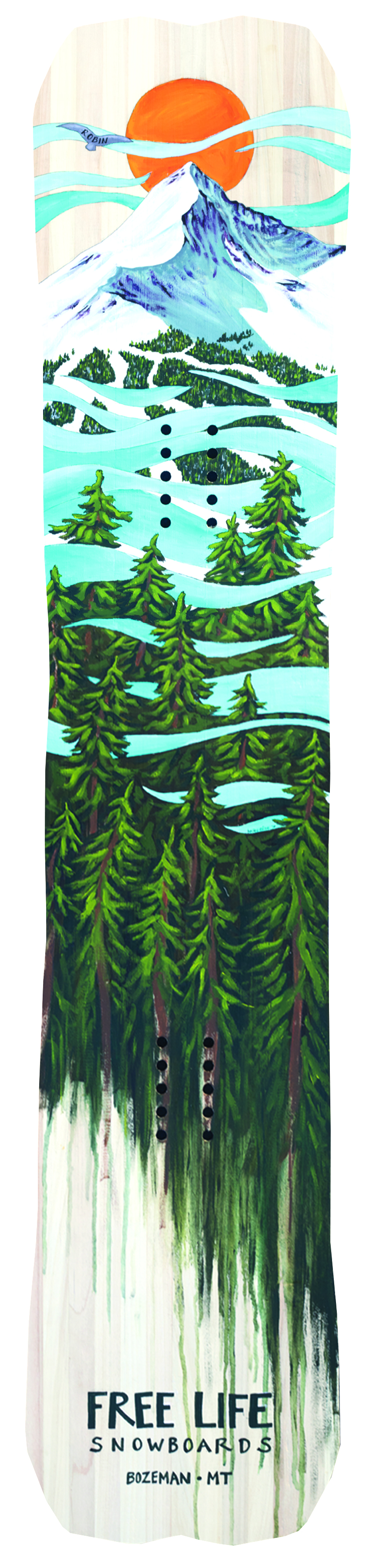 Custom Painted Snowboard Top Sheet