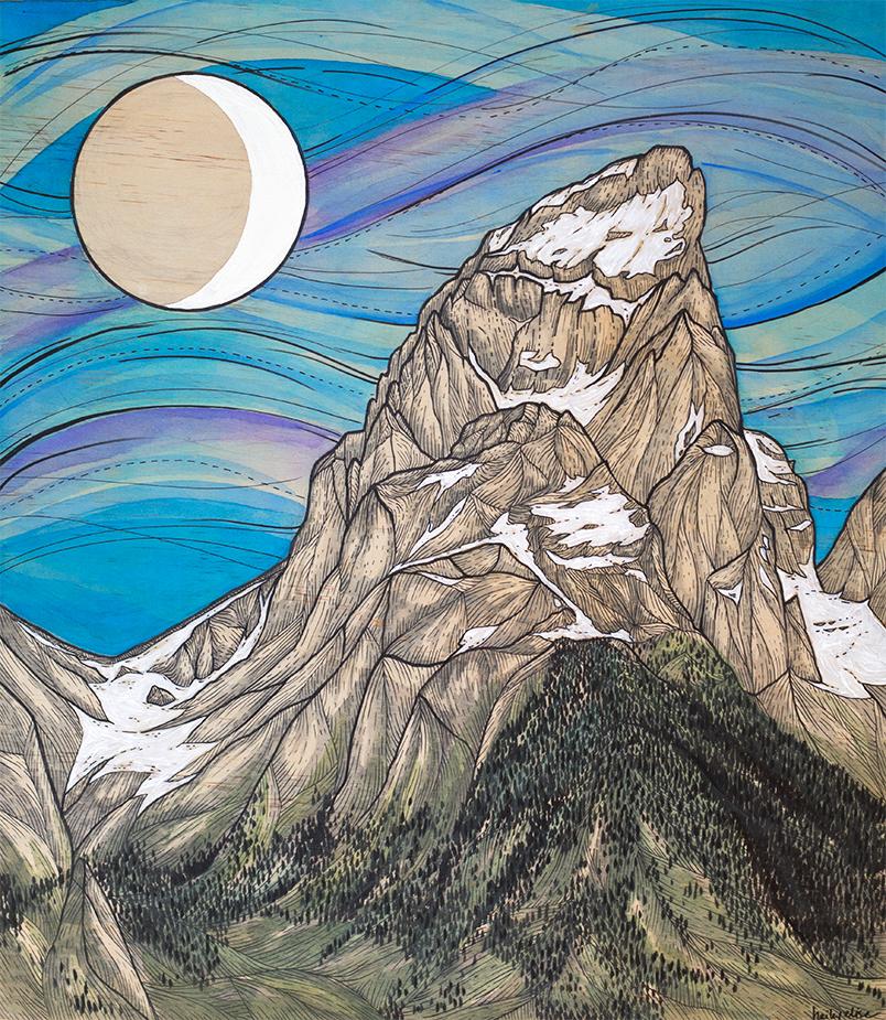 """Grand Teton Moon"""