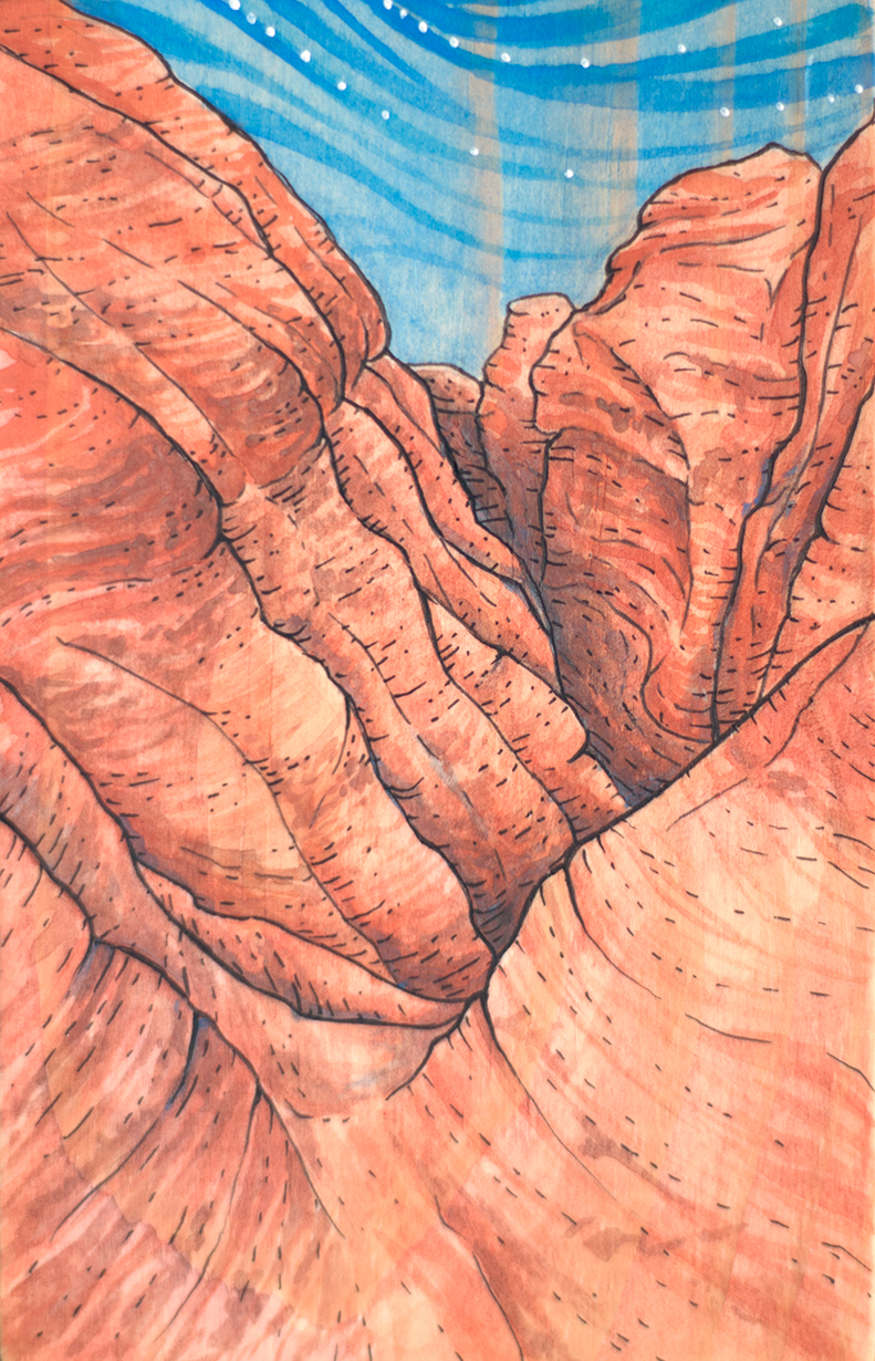 """Descending Elephant Butte"""
