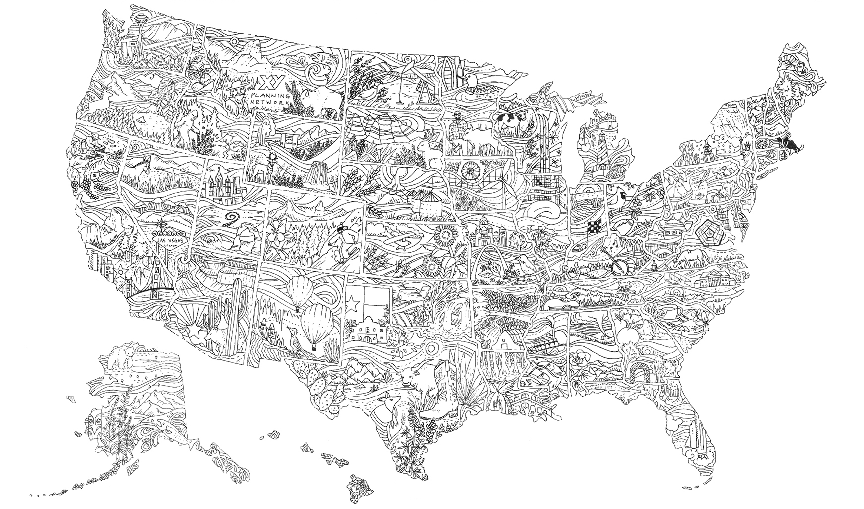 Illustrated US Map