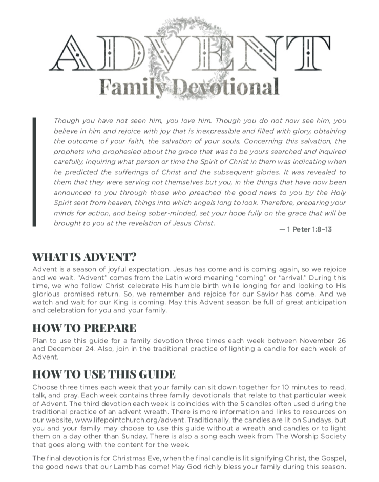 Advent Family Devotional -