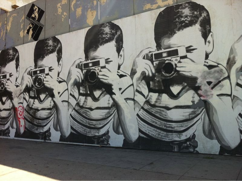 Spotted: Mr. Brainwash taking over more of Los Angeles