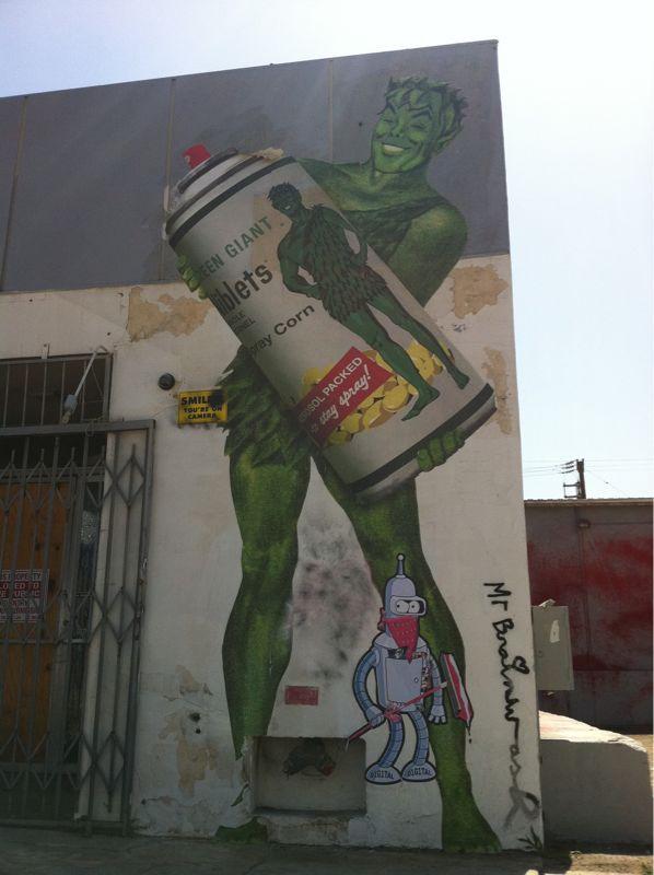 Mr. Brainwash takes over (more of) La Brea in Los Angeles