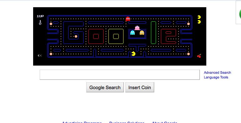 GOOGLE …. goes Pac-Man