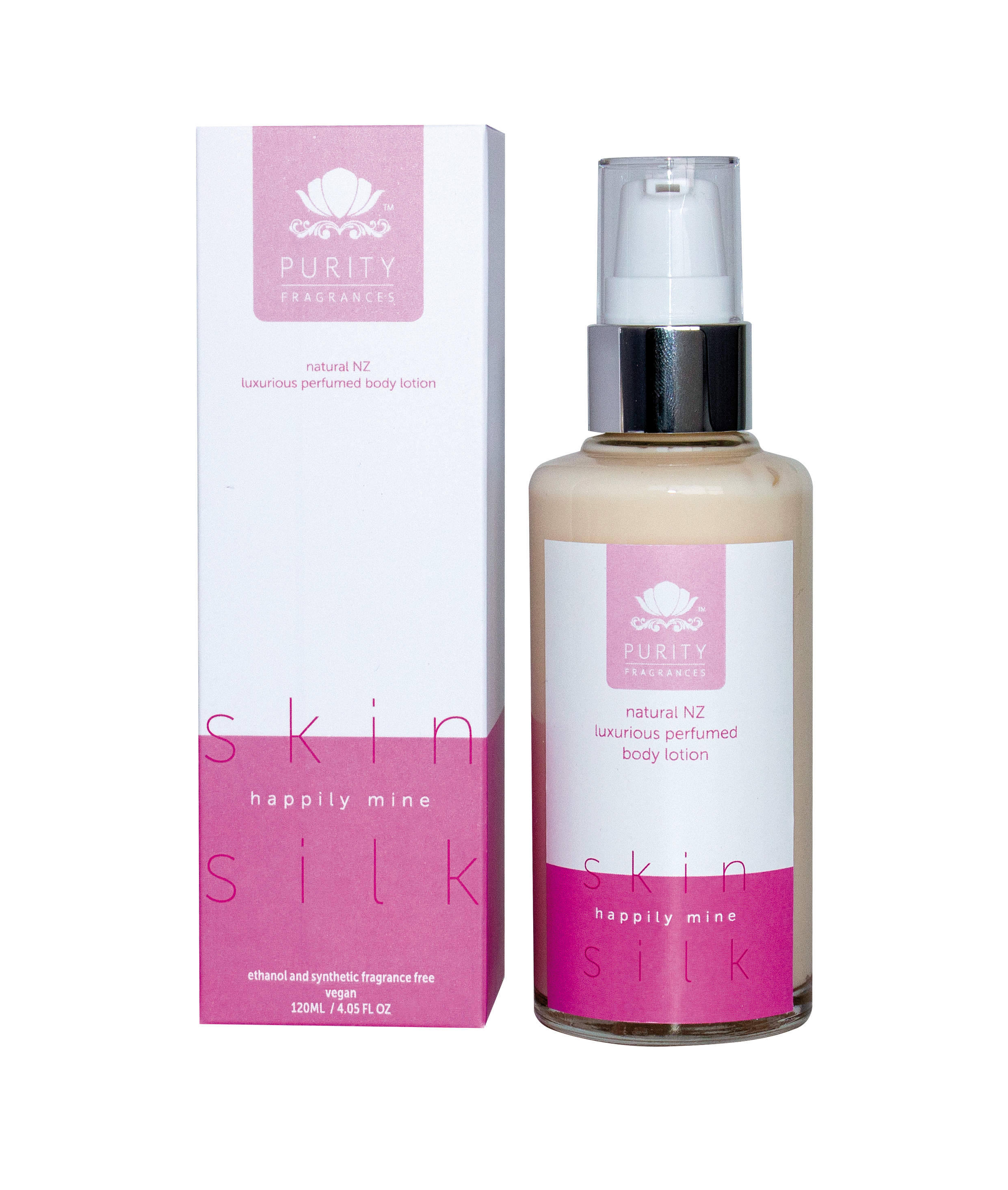 Made in NZ, Purity Fragrances Skin Silks range contain essential oils, aloe vera leaf extract, pomegranate extract, sweet almond, jojoba seed and sesame seed oils to hydrate and nourish the skin, while leaving a long-lasting scent.  www.purityfragrances.co.nz