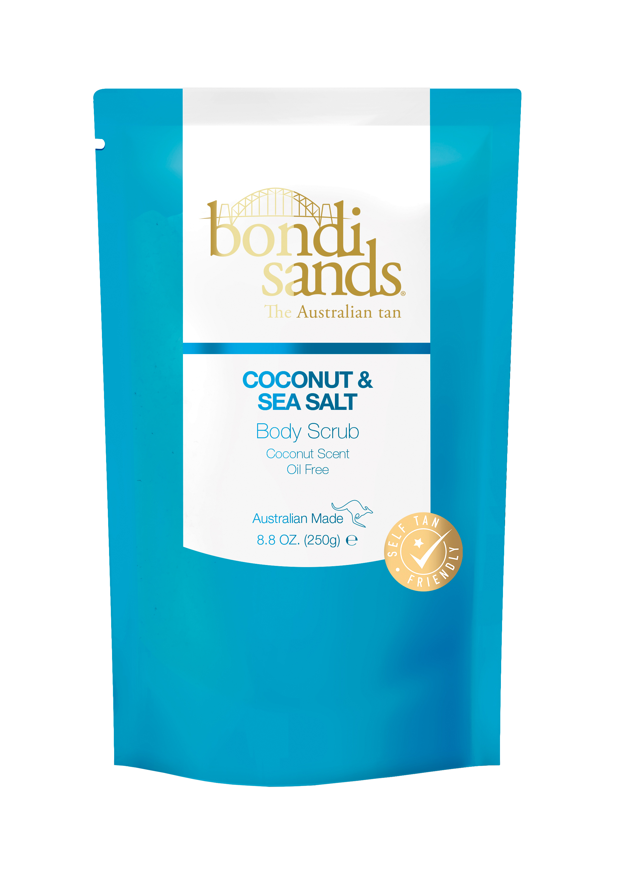 With naturally derived exfoliants including Australian sand, sea salt, coconut husk and walnut shell,  Bondi Sands Body Scrub  works to gently buff away dead skin cells and impurities, leaving skin smooth, soft and ready for your self-tan application.  www.bondisands.com.au