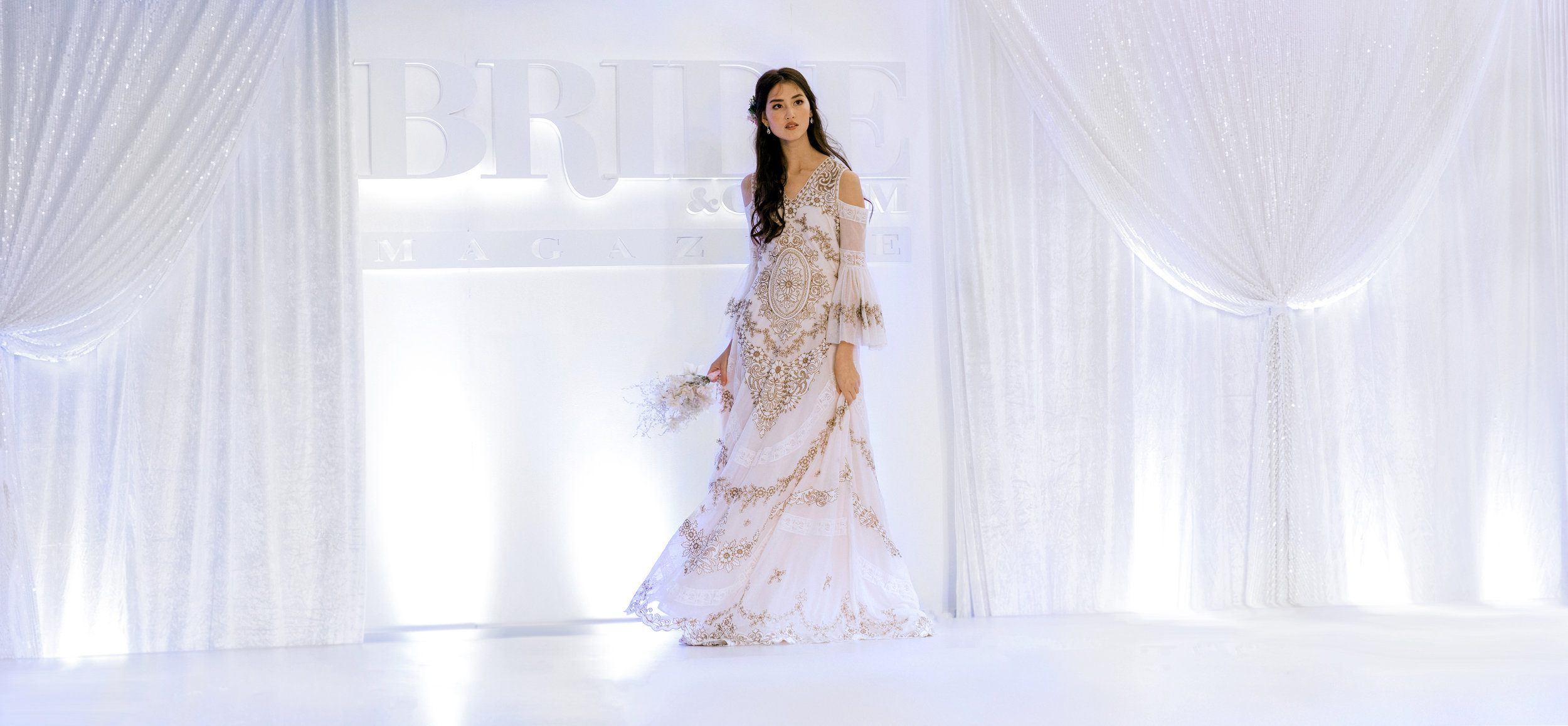Corina Snow - The Bridal House     at the     Bride & Groom magazine Fashion Show     at the     Bride & Groom Wedding Show     2019