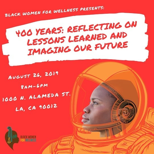 "Did you know Black mothers are 3x more likely to experience pregnancy-related death than white mothers?  Join our sisters from BWW to learn about #OurRJStory at their Annual Reproductive Justice conference, one of the ONLY in the world, focused on improving health and wellness outcomes for Black Women and Girls! Join us on August 26th, 2019 at the California Endowment in DTLA. Please RSVP on their Eventbrite by searching ""Black Women for Wellness"" OR click on the link in @bwwla Bio!  You can register at bit.ly/400yearsbww  Our main hashtags to use:  #BlackWomenDeserveBetter  #OurRJStory  #400yearsBWWLA . . #blackwomen #educate #empower #blackwomenforwellness #stand #losangeles #reproductivejustice #community #uplift #mothers #sisters #daughters #health #wellness #women #blackgirlmagic"