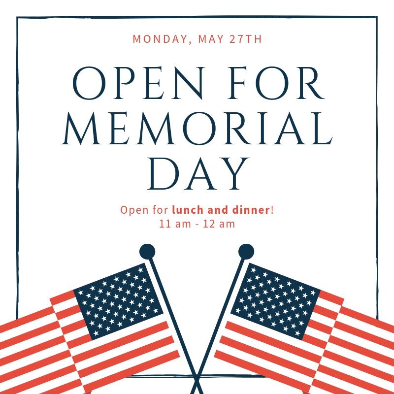 Open for Memorial Day.jpg