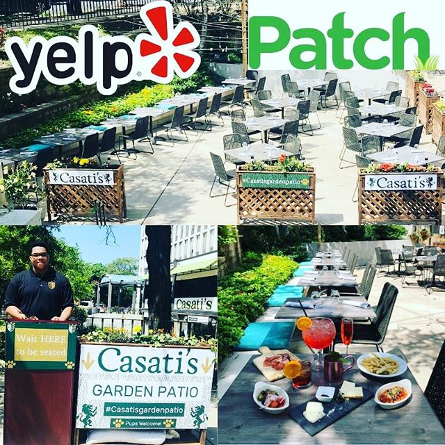 Fri-YAY and ☀️ is finally here! Garden Patio, Opens at 11 AM... S/O @yelpchicago @chicagopatch for featuring our #casatisgardenpatio