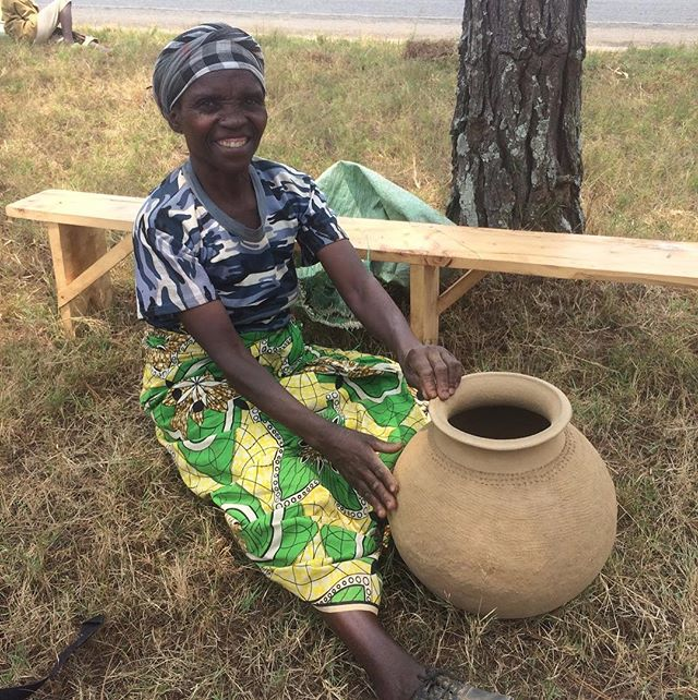 Community Member: Bonfilde  Bonfilde enjoys being in the CO-OP and working together with others. She has hope the CO-OP will continue to grow and develop and she will be able to raise herself out of poverty. As shown in the photo, she also collects clay to make multipurpose pots. Each clay pot takes her about an hour and a half to make and sells for about 30 cents.