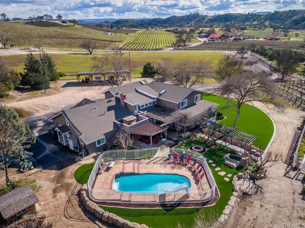 Pool, Hot Tub, Fireplace, & Acres of Stunning Vineyards Await -