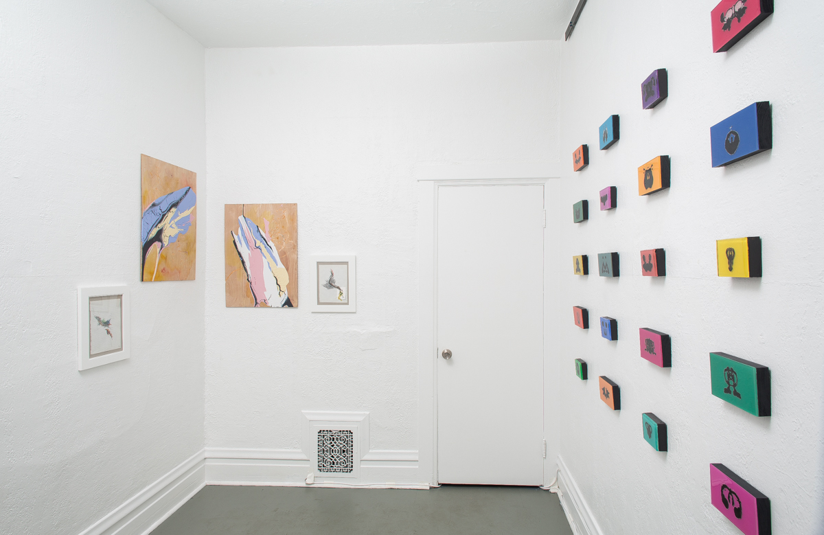 Installation view of  Blot  at DoubleSpace. Photograph by  Matthew Pevear .