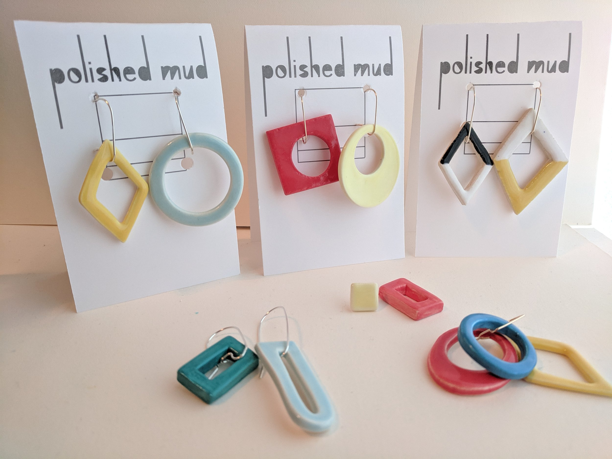 A sampling of Polsihed Mud's handmade wares