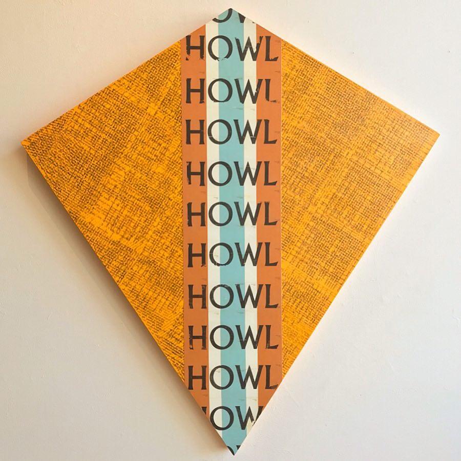 Joshua Ware Kite-Shaped Mixed Media Work