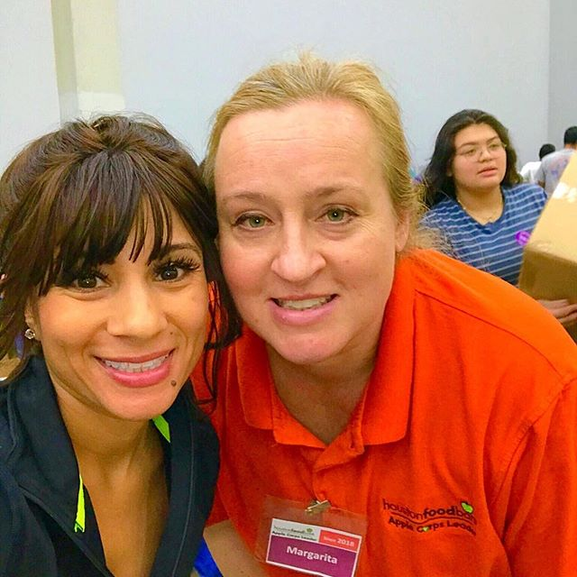 Dynamic GF Director bumped into Dynamic member at the Houston Food Bank #smallworldbigfamily  Wondering if our members would be interested in setting up a group shift? If so, comment below! It was a lot of fun! 💪