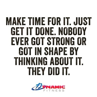 A one-hour workout is just 4% of your day - and don't forget how ❖ POWERFUL ❖ you'll feel afterwards!  Check out our classes online at: www.TheDynamicFitness.com