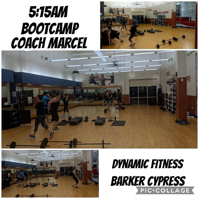 Early bird members love our 5:15am bootcamp with Coach Marcel! They get in, get a full body workout (one hour class), then can tackle their day at the office! 💪