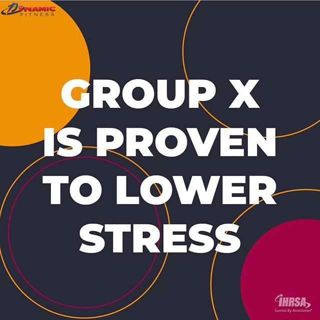 According to a recent study, Group Fitness participants saw a 26% reduction in perceived stress. #StressAwarenessDay