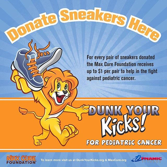 Dynamic Fitness is proud to be collecting your gently-used sneakers on behalf of the Max Cure Foundation! One pair of sneakers = - $1 for families in need who have a child battling cancer - Footwear for people in developing countries - Less landfill waste & protects the environment 👟 We will be collecting through May 15! 📦 Look for collection boxes in our clubs. (athletic and running sneakers only please) #dynamicfitnesshtx