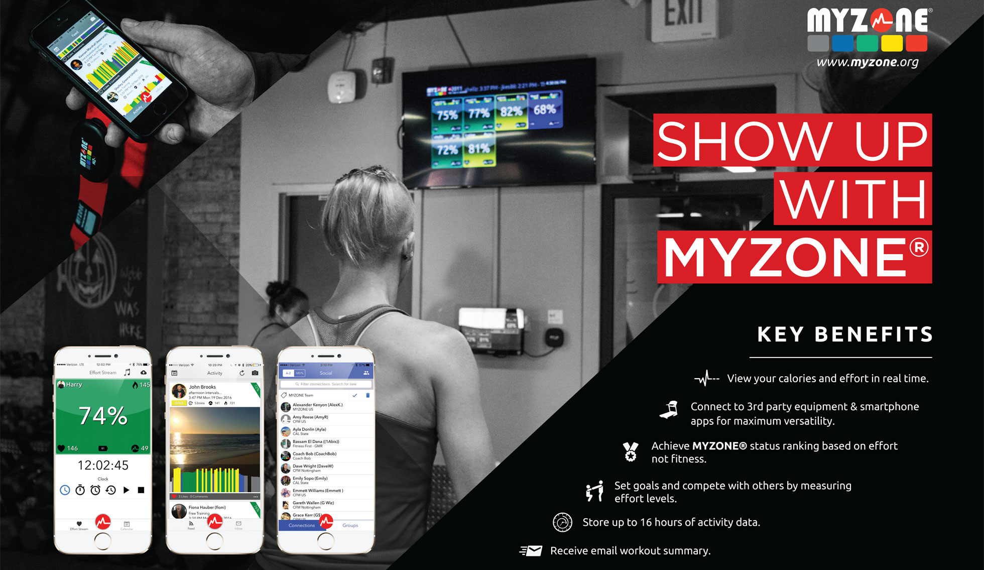 GET YOUR EFFORT REWARDED WITH MYZONE - Track your effort during workouts using heart rate zones and MEPs! Compete in challenges, share your results on social media, and compare your point standings with your friends!