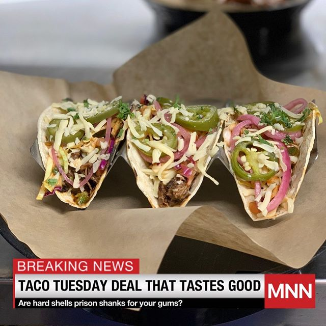 BREAKING NEWS: A Taco Tuesday deal that doesn't taste like the discount price. Tune in tonight to learn more. #tacotuesday