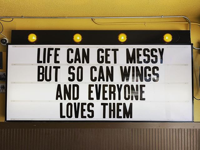 So keep your head up, ya know? It's #wingsday