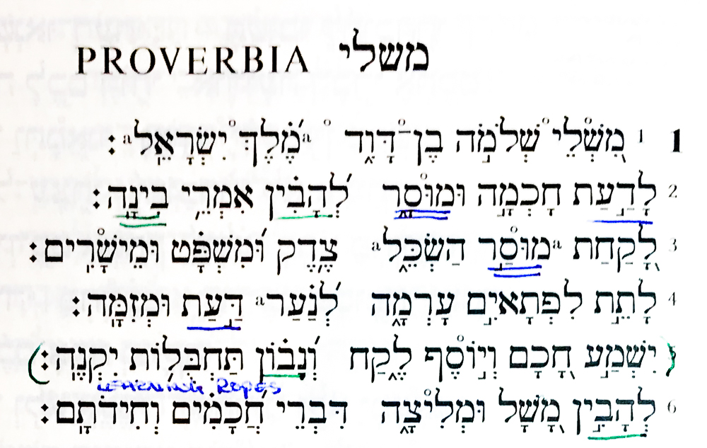 Proverbs in Hebrew @www.Relavate.org