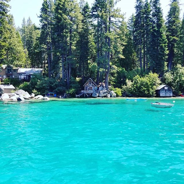 Want to swim at this secret location?  Give us a call to book a private boat charter 530-448-2281 Our boats are fully stocked with waterskis, wakeboard and a 3 person innertube thats like floating on a couch.  #laketahoelife #laketahoe #laketahoeboating