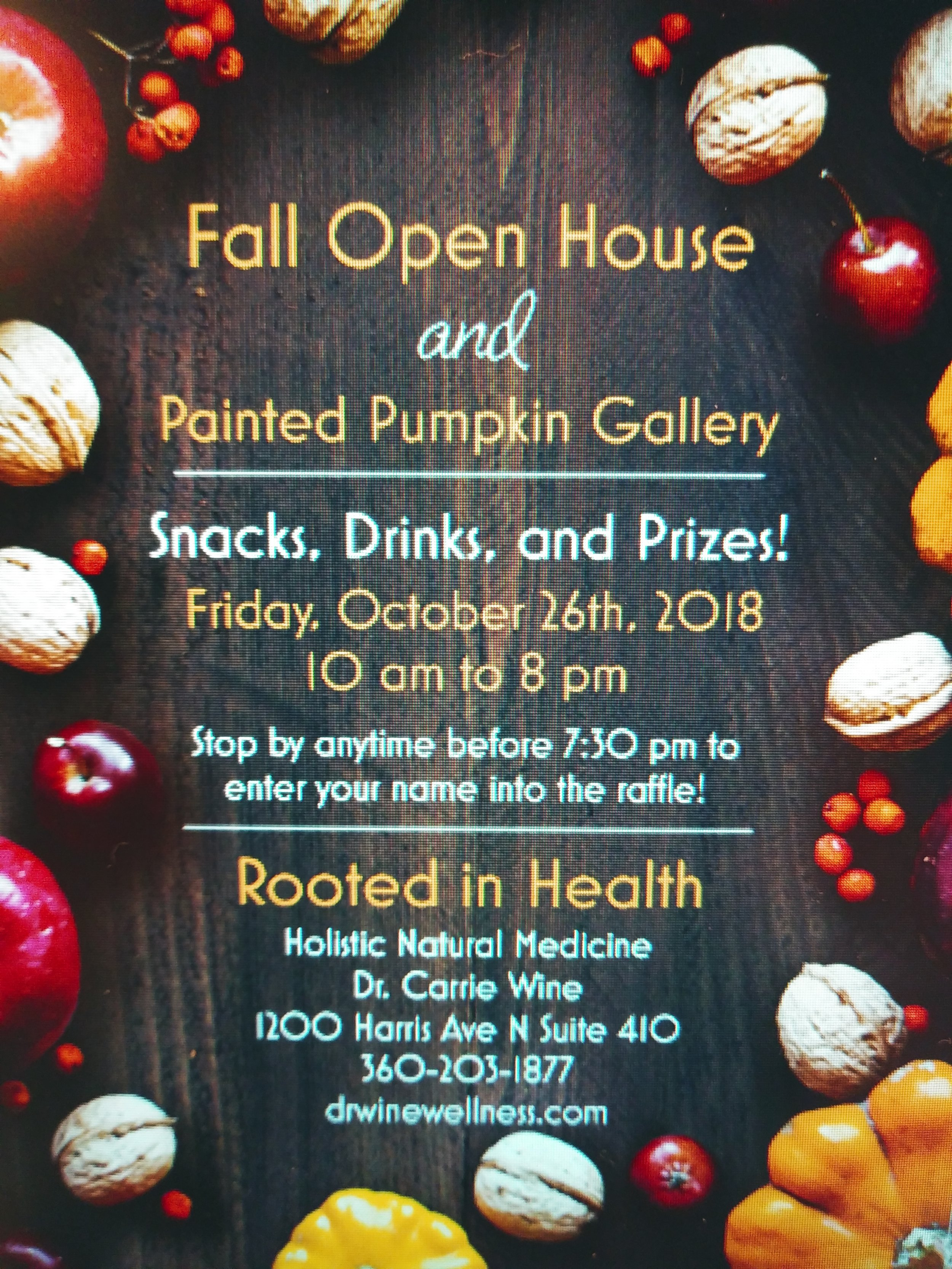 """Come join me on Friday, October 26th for my Fall Open House and Painted Pumpkin Gallery! There is a prize for the most voted on pumpkin as well as a raffle for all those who stop by and say """"hi."""" The 4th Friday Art Walk is also going on so please get out there and support our local artists and businesses!  Have a pumpkin you want to submit? I am still taking submissions up to 10 on Friday! The pumpkin will only stay there for the day, you are welcome to take it home after the event. The prize is a $50 gift certificate to your favorite art or artisan shop! Contact me by email, phone or social media to let me know about your submission."""