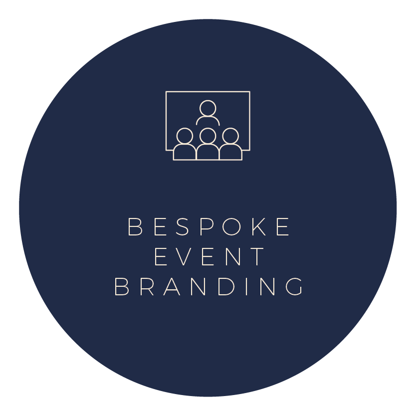 Setting the tone of your event with the right brand personality and strong visual elements, will help increase brand awareness and ensure its success.  Let us help you create impactful branding and marketing for your corporate or personal event.