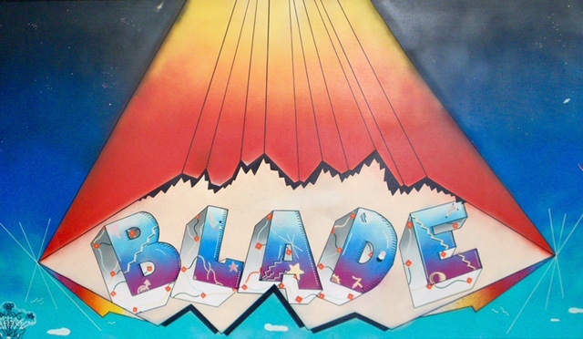BLADE - Blade is a true graffiti pioneer, painting over 5,000 pieces on New York's subway between 1972 and 1984. Blade embodies everything that is classically associated with graffiti: illegally painting trains, whilst avoiding cops, guard dogs, oncoming trains and the third rail. The prize was recognition within a subculture that wider society often hated, long before it became fashionable and graffiti made any transition into galleries. Blade is credited with developing several classic graffiti styles, was exhibited in key early gallery shows and has remained active in the contemporary art World since; his work was recently included in the 'Art In The Streets' show at MOCA in LA and the Brooklyn Museum in New York.