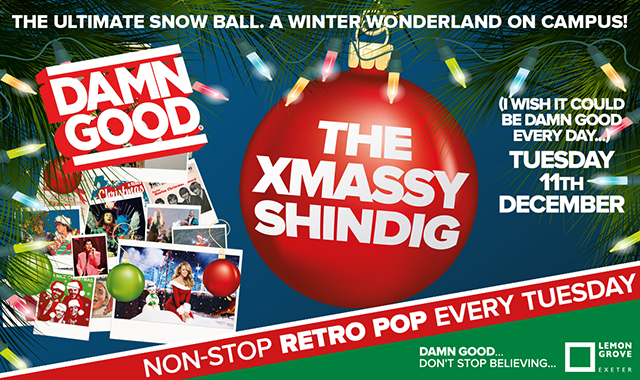 Copy of DAMN GOOD'S... THE XMASSY SHINDIG - 11th December