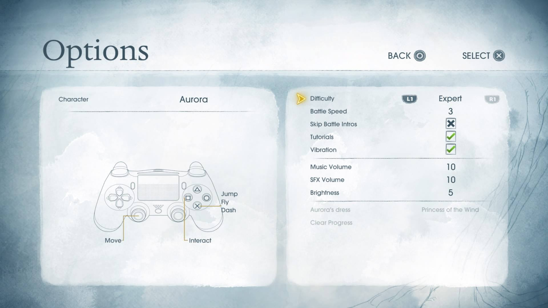 Customizing the difficulty and battle speed in Ubisoft's Child of Light