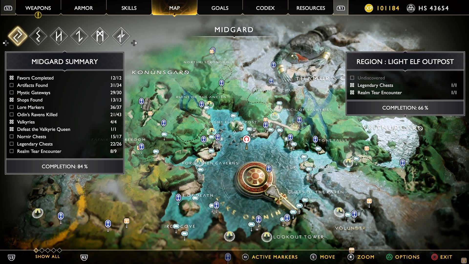 """The enormous size of God of War 4's """"Midgard"""" and it's many secrets to explore and discover"""