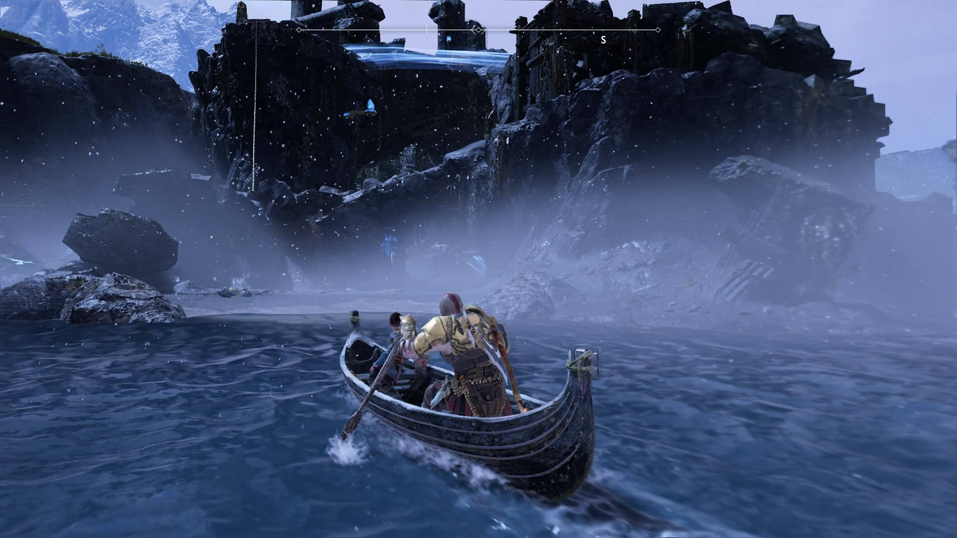 Exploring one of many different islands in God of War