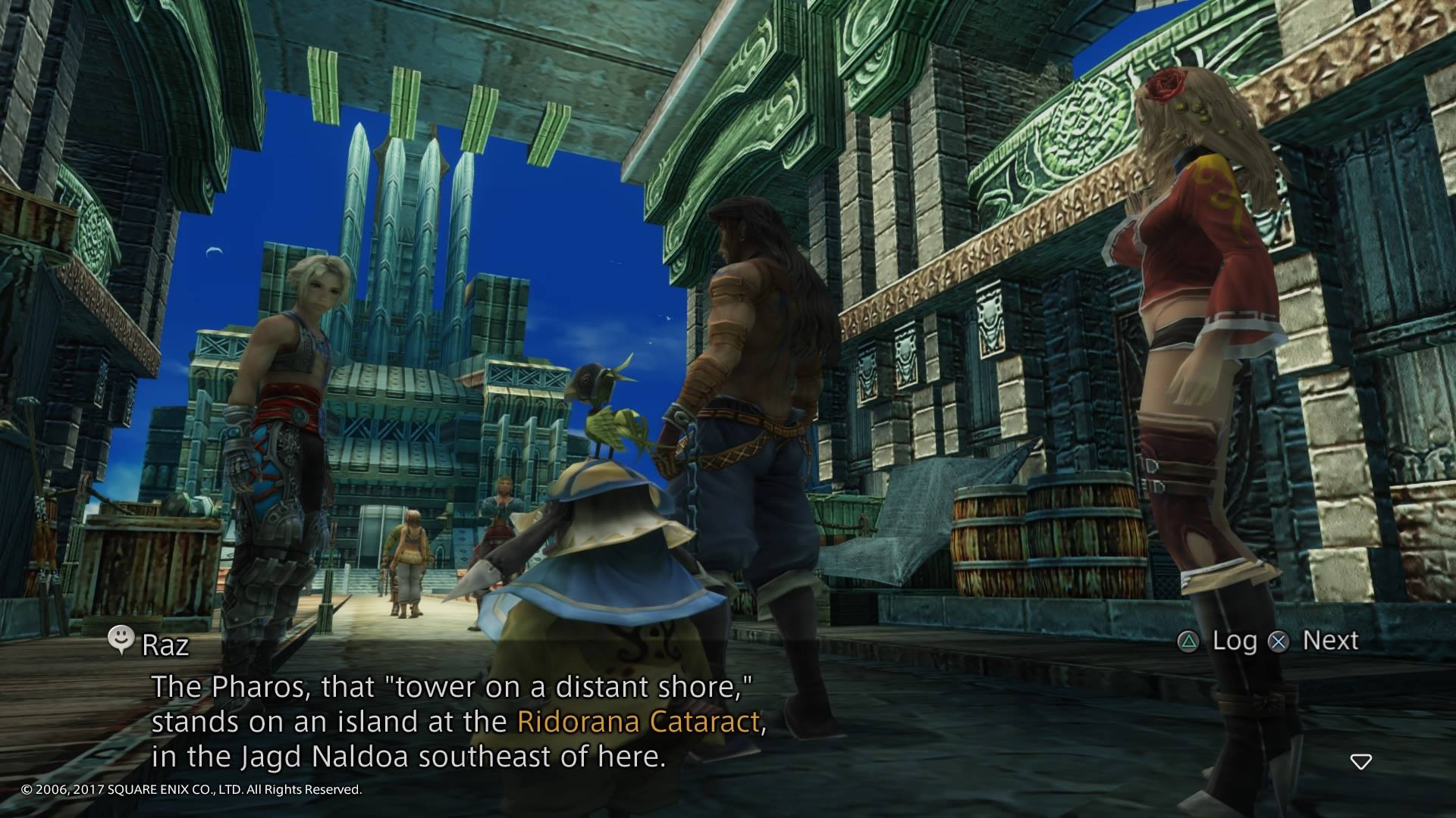 Square-Enix's Final Fantasy XII uses yellow text to bring awareness to players about places, people, or events of interest that the player has yet to encounter