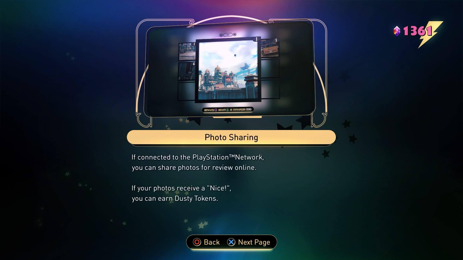 "In 2017 players of Gravity Rush 2 could receive ""Dusty Tokens"" for sharing photos"