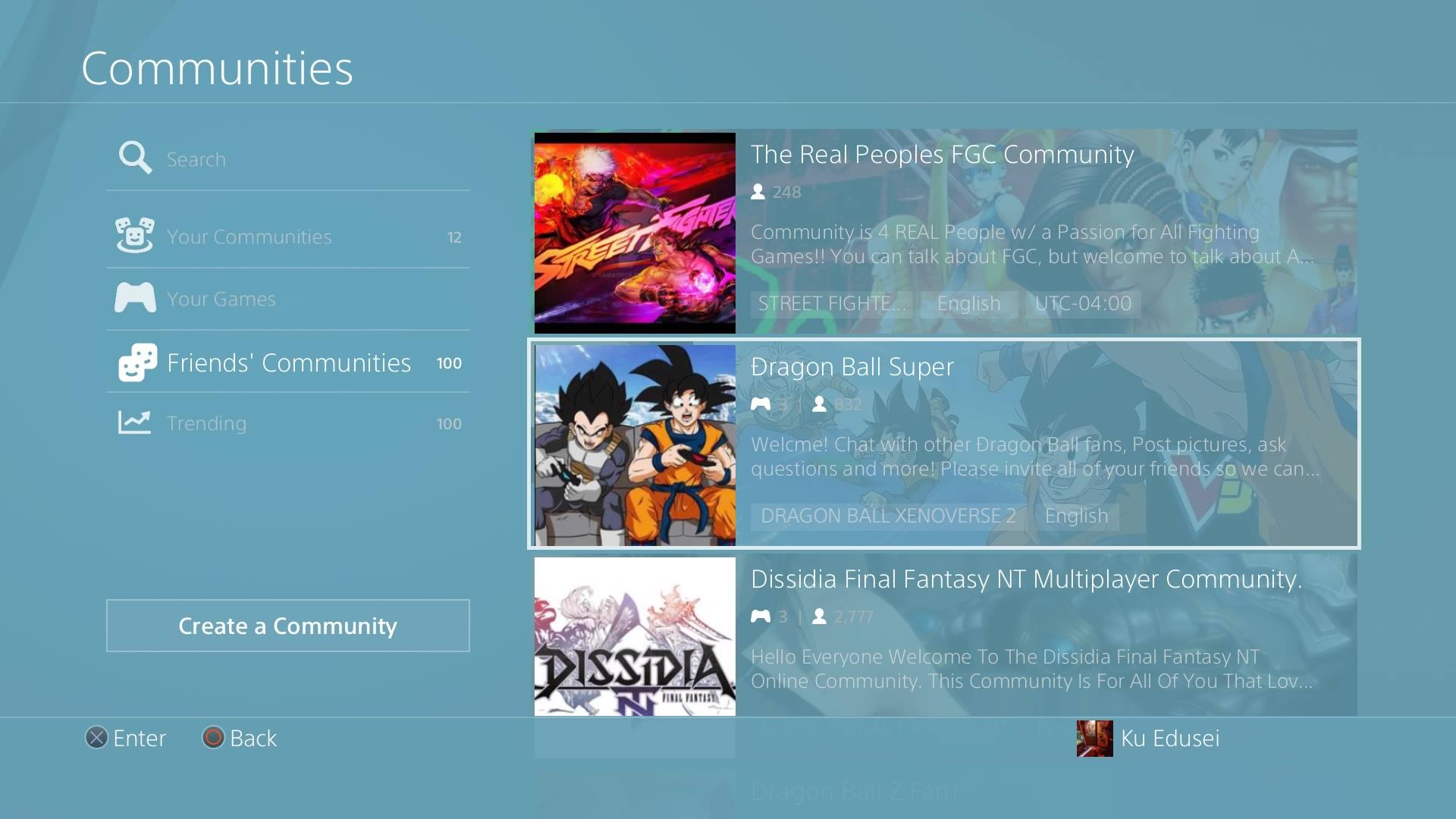 "Virtual ""Communities"" on Sony's Playstation Network"