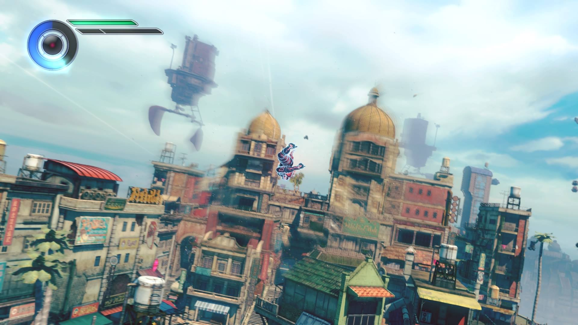 Manipulate gravity and fly through the fictional town of Jirga Para Lhao in Gravity Rush 2
