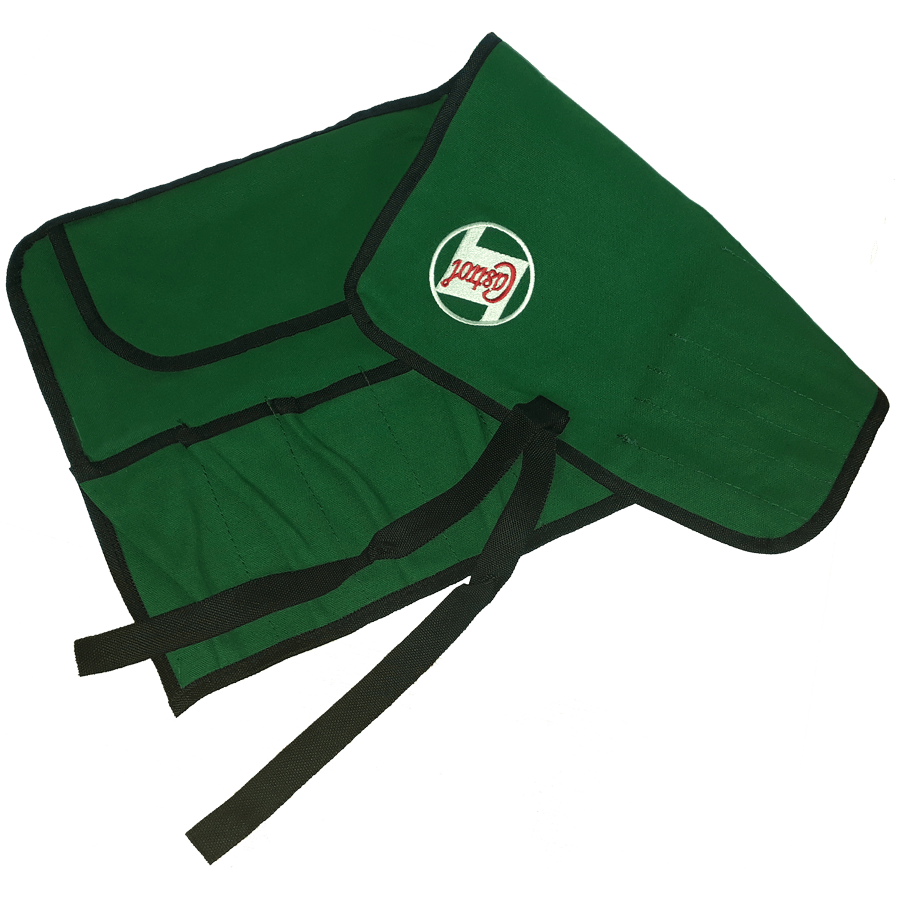 Classic Tool Roll   A traditional 100% canvas tool roll, in Castrol green with an embroidered logo. With 15 pockets, this tool roll is a stylish and practical addition for storing emergency tools in your classic vehicle.