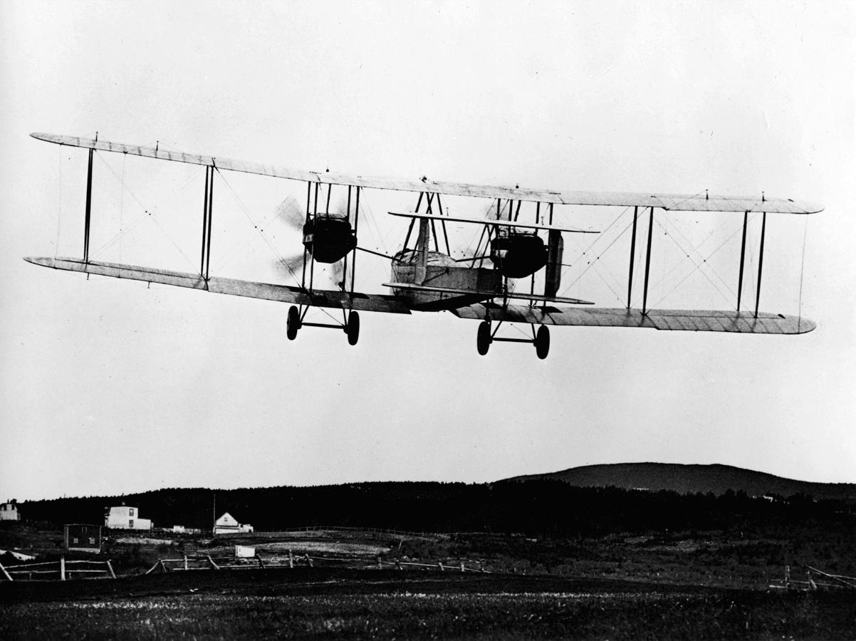 First non-stop trans-Atlantic flight in 1919