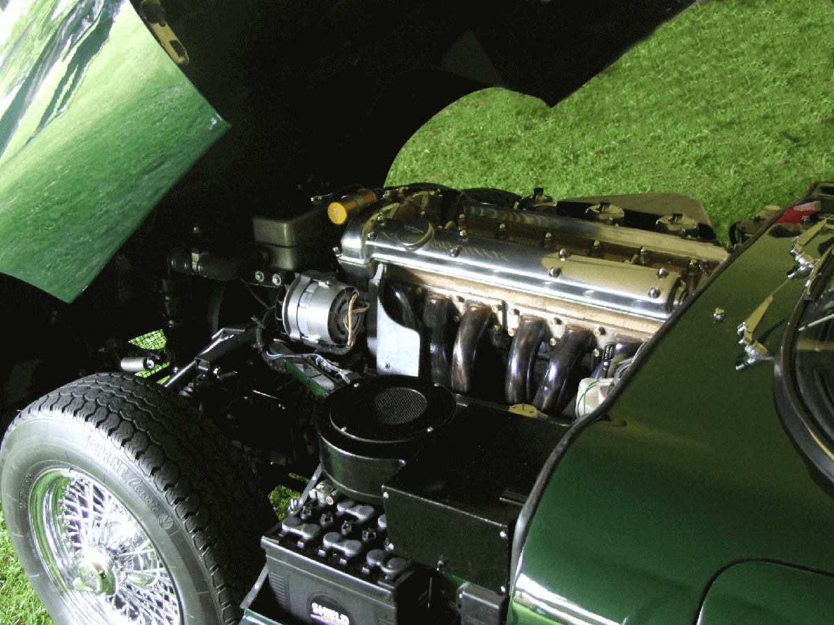 Jaguar E-type engine bay