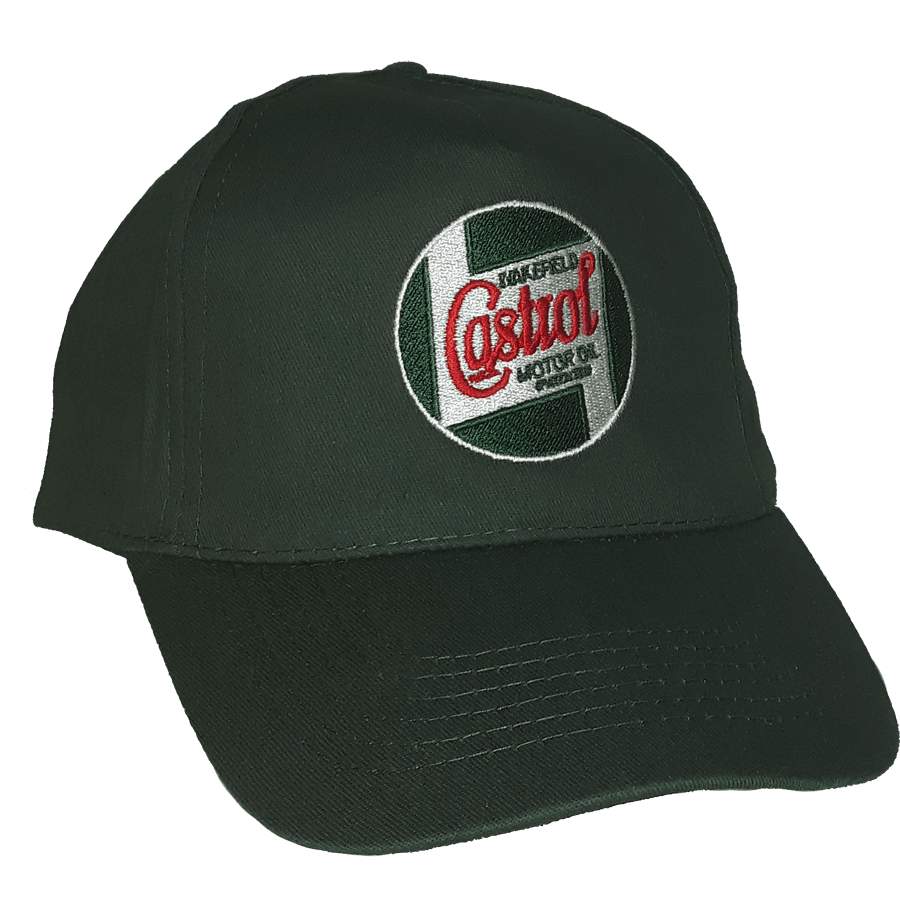 Race/Rally Cap   Cap with embroidered classic Castrol logo. One size fits all, with adjustable strap.