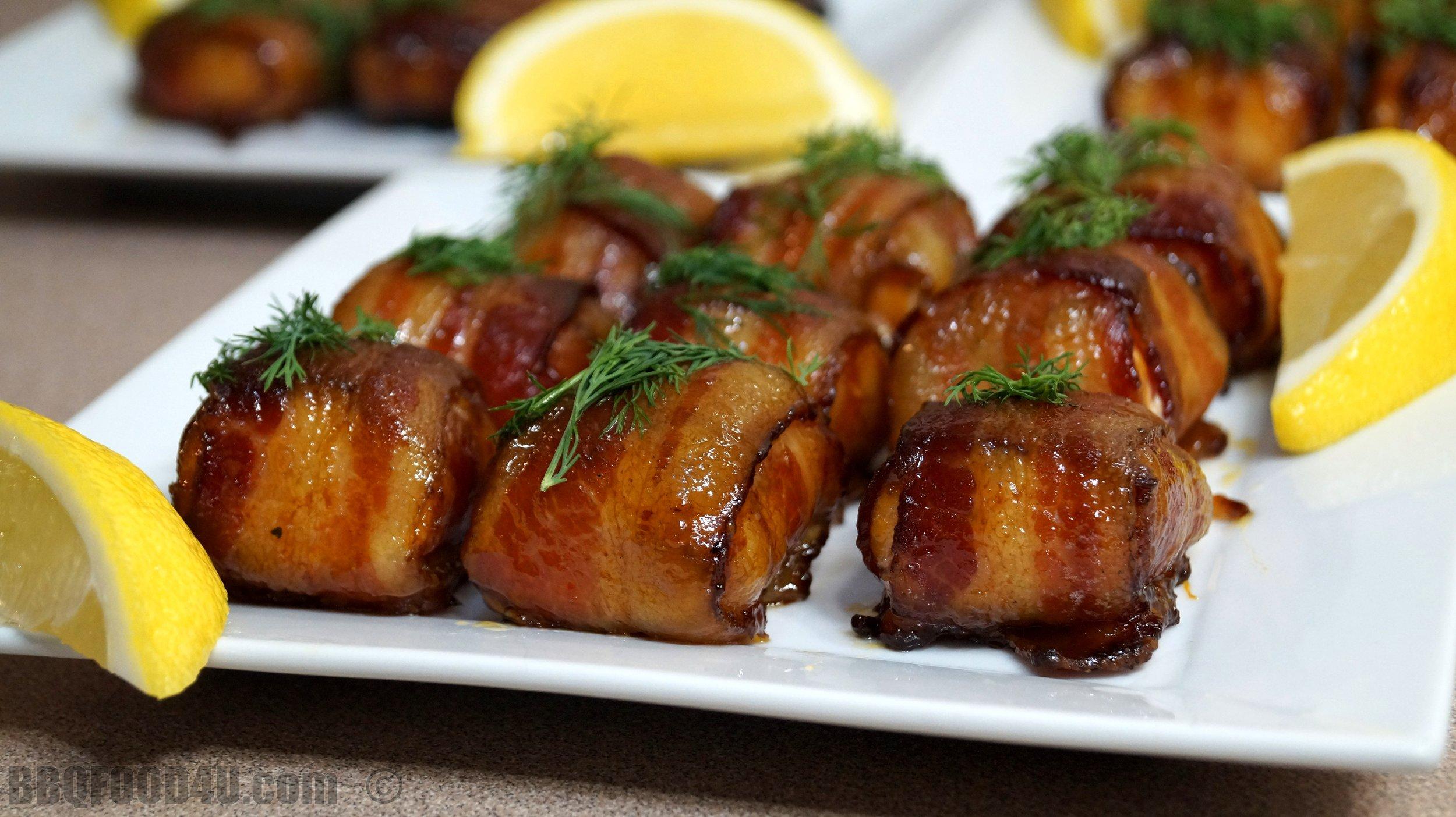 Smoked Bacon Salmon Bites