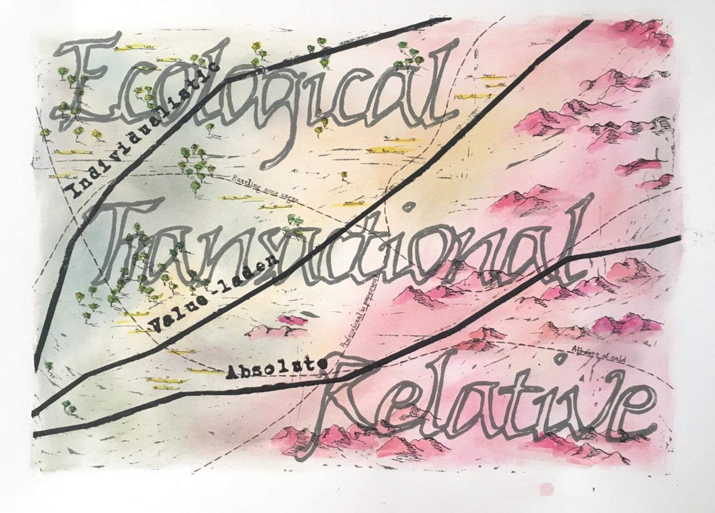 'Pathways across a remapped landscape', Al Strangeways & Lisa Papatraianou.